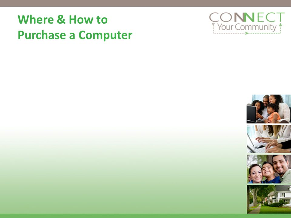 Where & How to Purchase a Computer