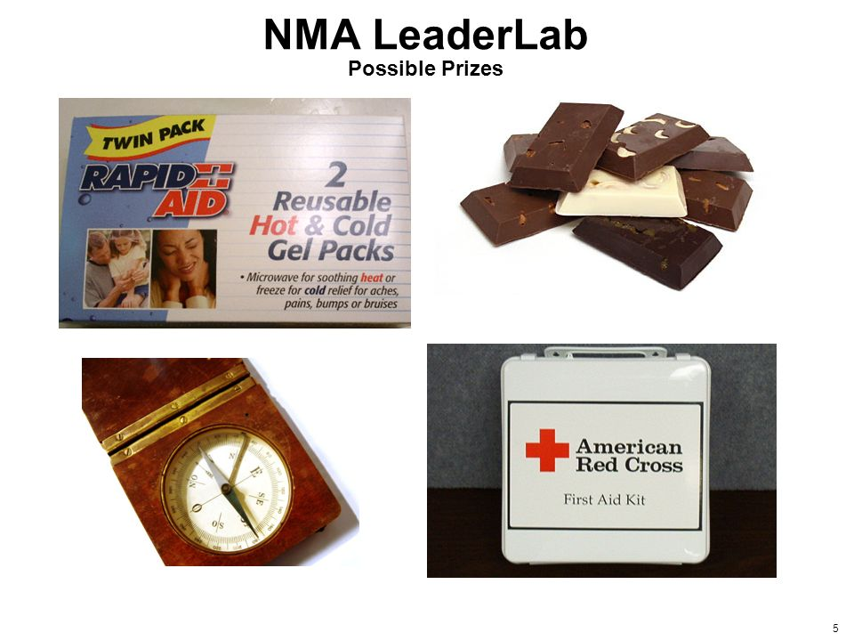 5 NMA LeaderLab Possible Prizes