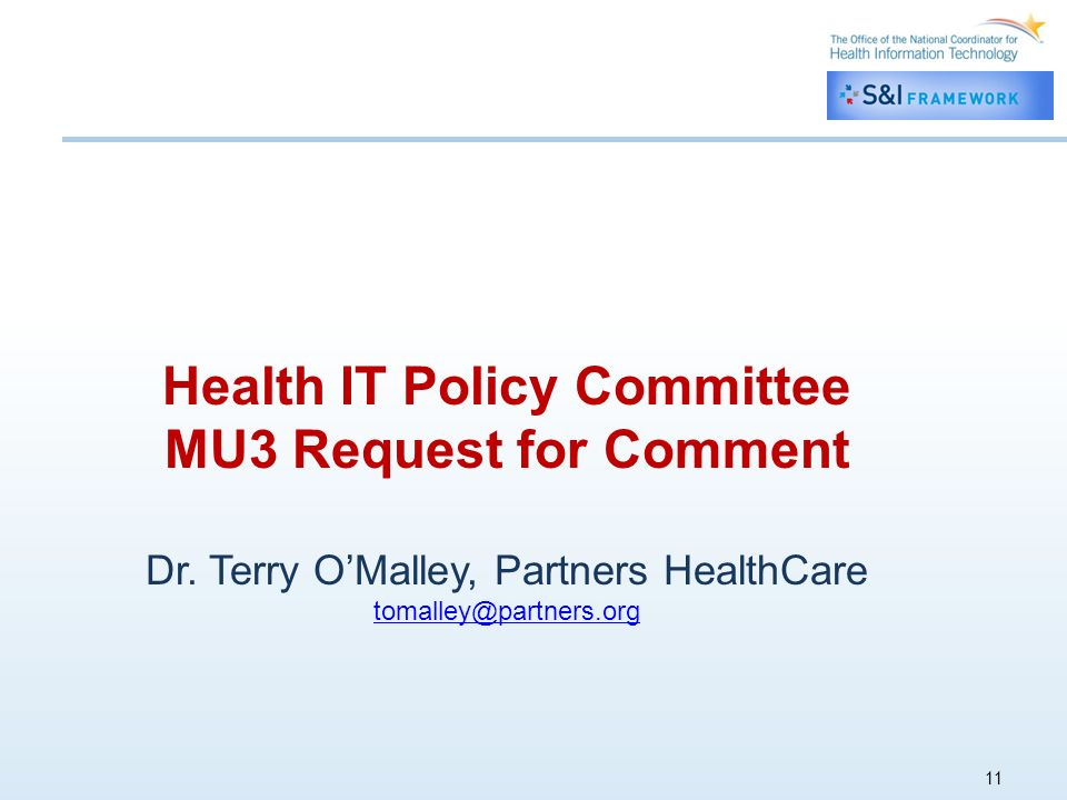 11 Health IT Policy Committee MU3 Request for Comment Dr.
