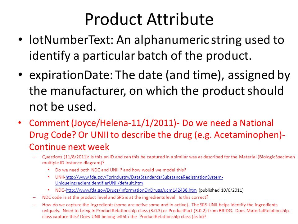 Product Attribute lotNumberText: An alphanumeric string used to identify a particular batch of the product.