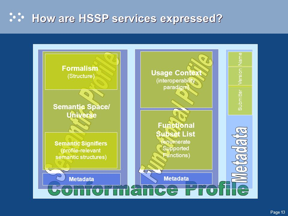Page 13 How are HSSP services expressed.