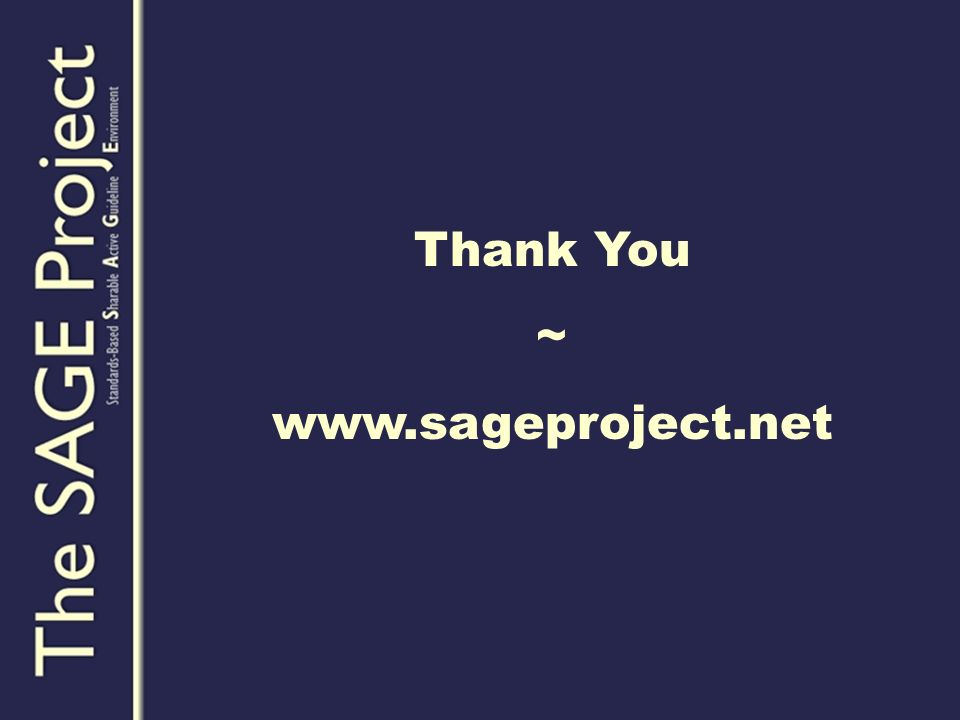 Thank You ~ www.sageproject.net