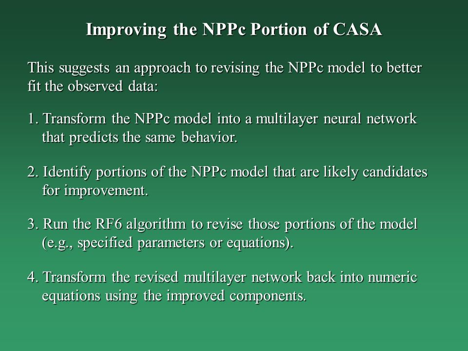 Improving the NPPc Portion of CASA 1.