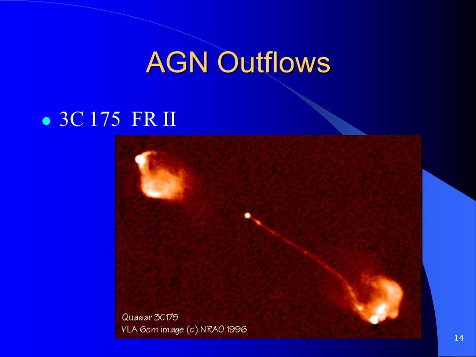 14 AGN Outflows 3C 175 FR II