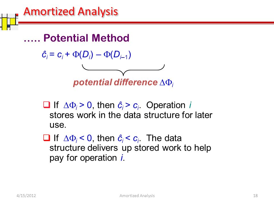ĉ i = c i + (D i ) – (D i–1 ) potential difference i If i > 0, then ĉ i > c i.