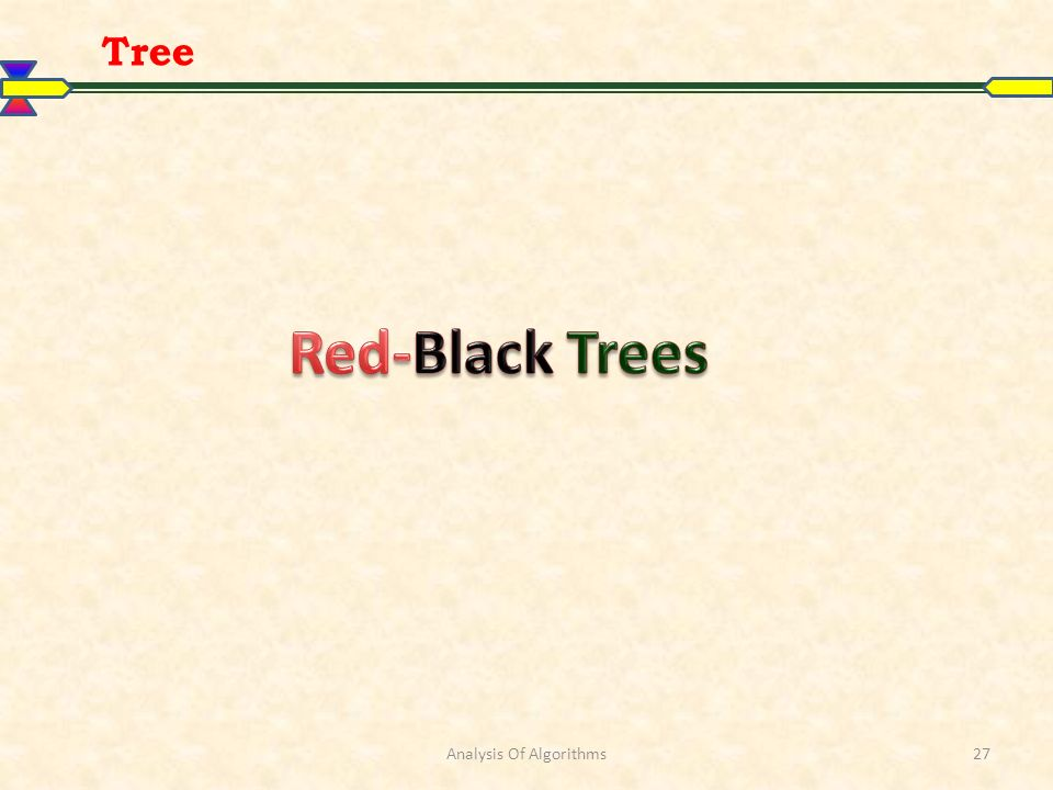 Tree Analysis Of Algorithms27
