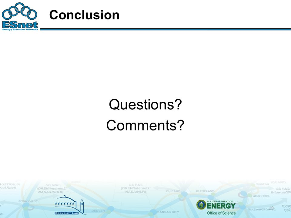 Conclusion Questions Comments 19