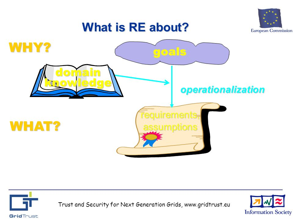 Trust and Security for Next Generation Grids, www.gridtrust.eu What is RE about.