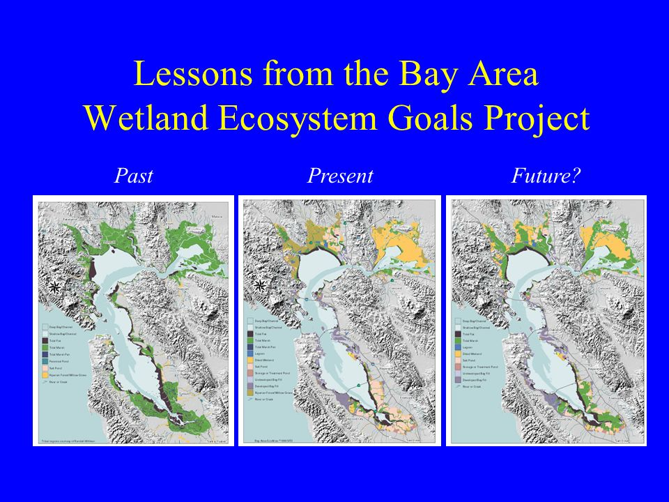 Lessons from the Bay Area Wetland Ecosystem Goals Project PastPresentFuture