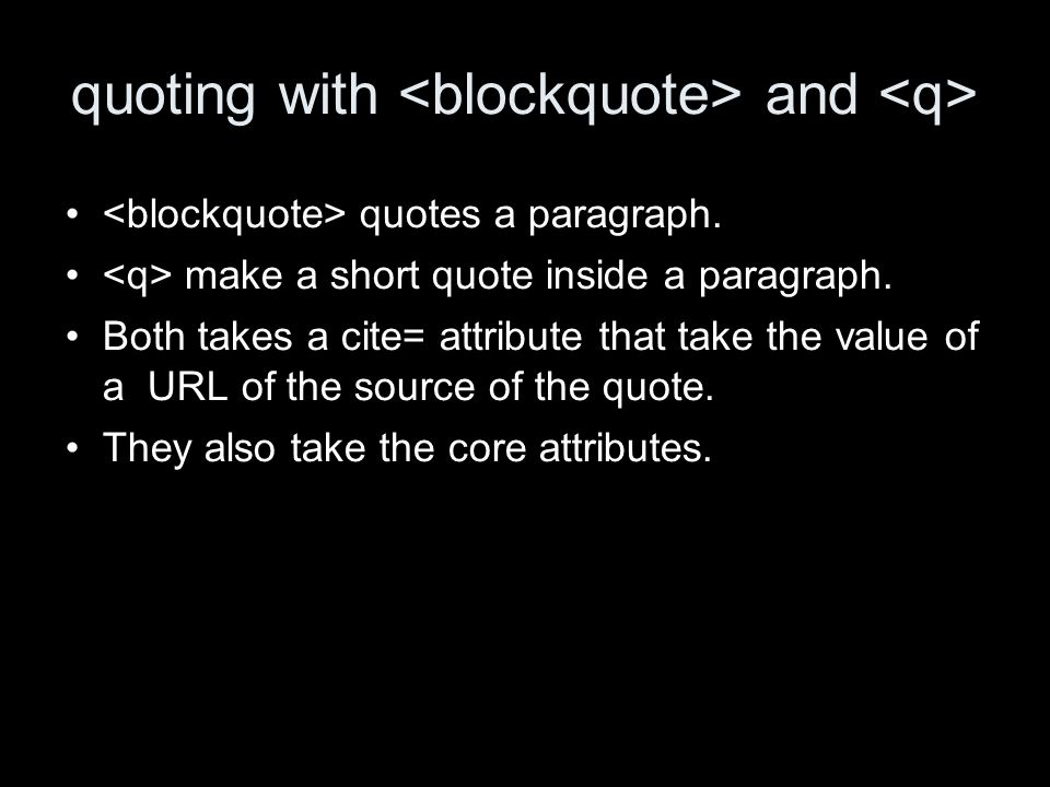 quoting with and quotes a paragraph. make a short quote inside a paragraph.