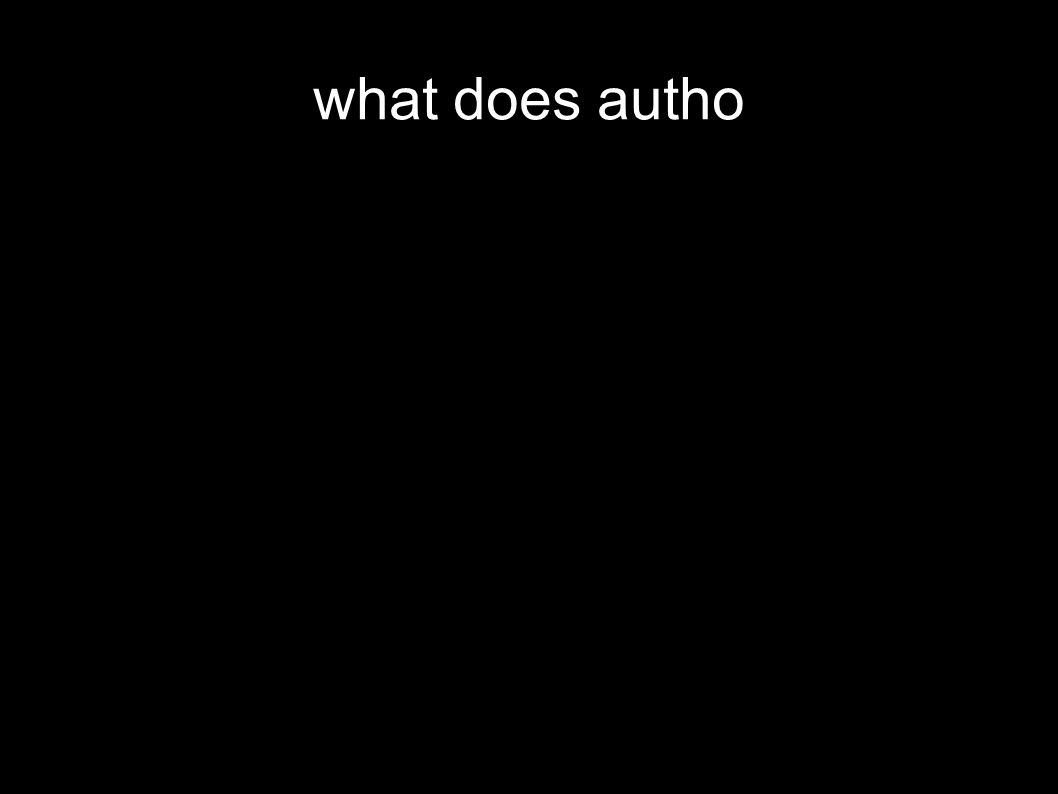 what does autho