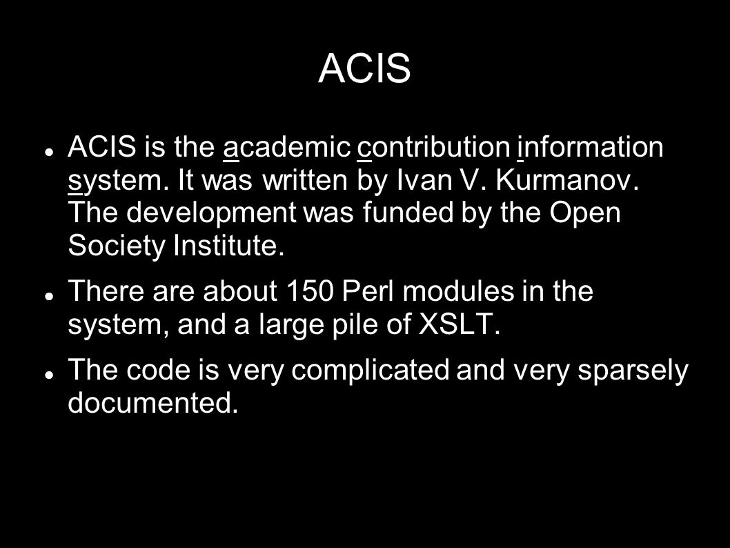 ACIS ACIS is the academic contribution information system.