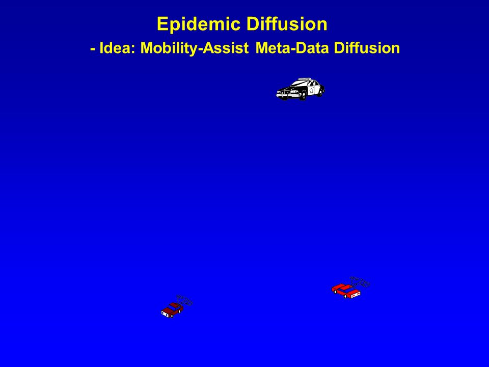 Epidemic Diffusion - Idea: Mobility-Assist Meta-Data Diffusion