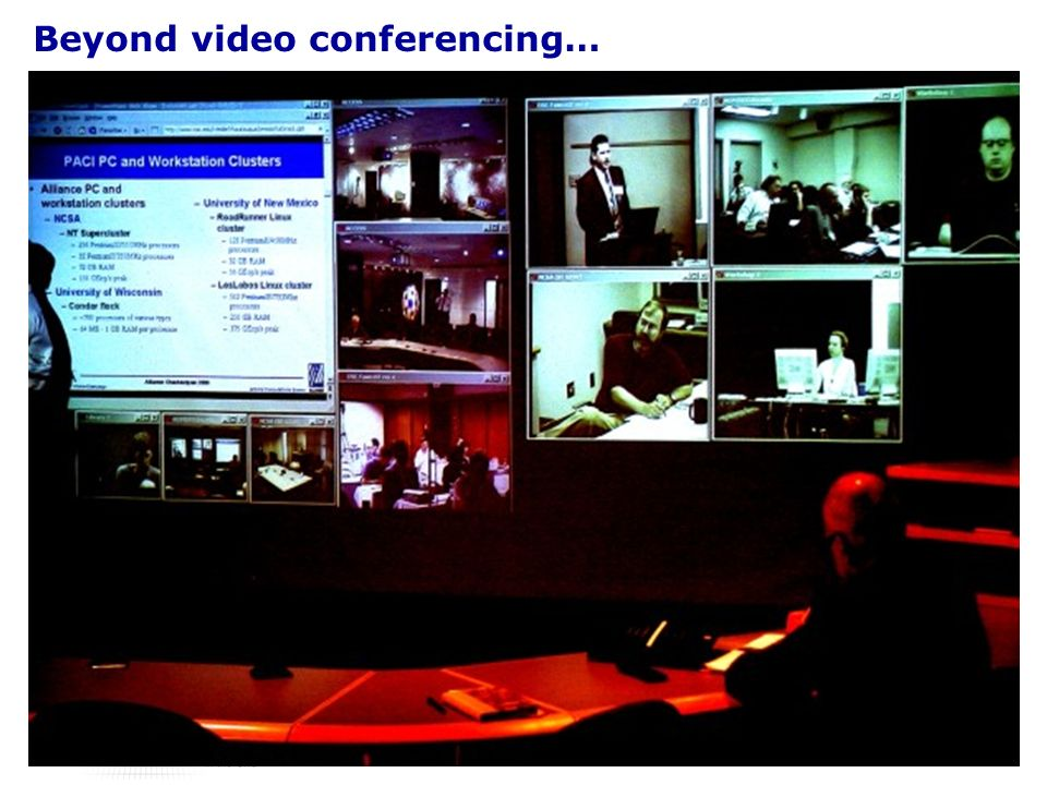 Beyond video conferencing… collective sensemaking / discussion capture following through decisions/ coordinating activities synthesising artifacts recovering information from meetings awareness of agent status / sense of presence virtual meetings …integrating multiple modes of collaboration