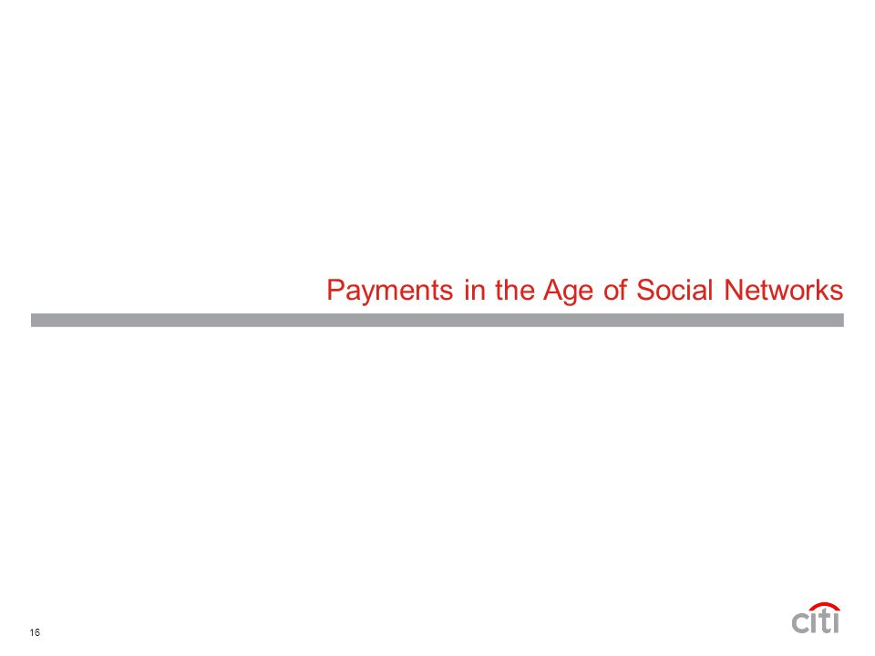 16 Payments in the Age of Social Networks