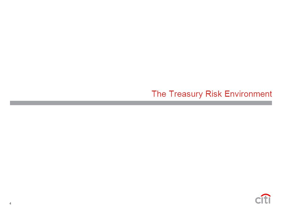 4 The Treasury Risk Environment