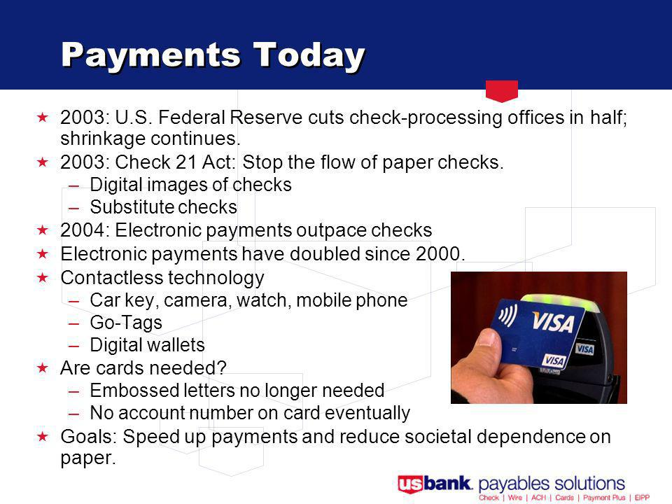 Payments Today 2003: U.S.