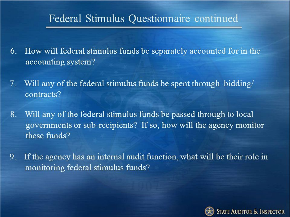6.How will federal stimulus funds be separately accounted for in the accounting system.
