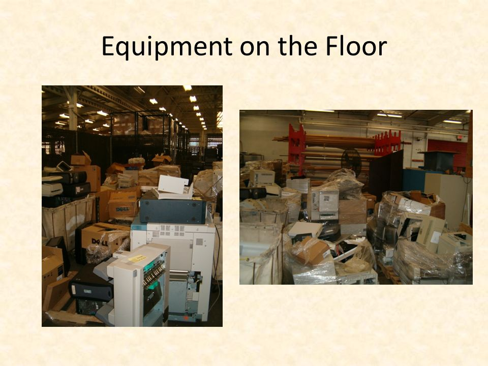 Equipment on the Floor