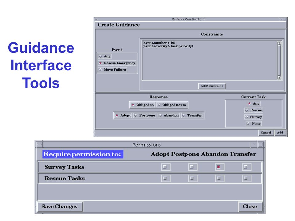 Guidance Interface Tools