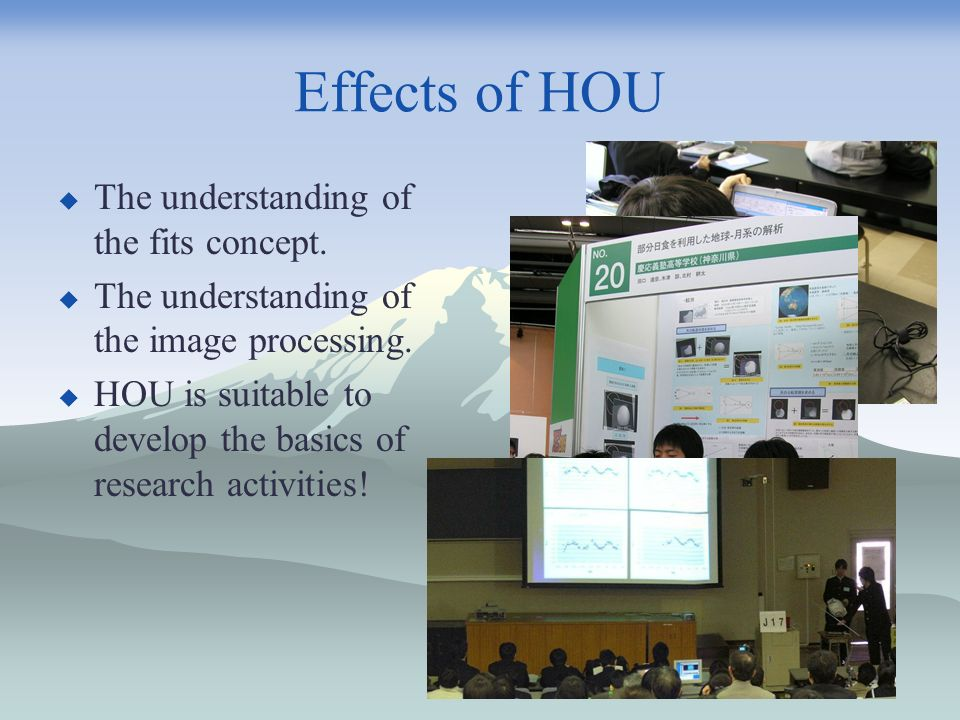 Effects of HOU The understanding of the fits concept.