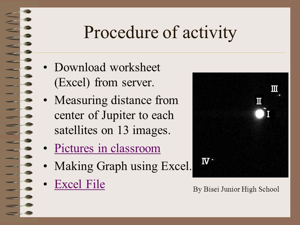Procedure of activity Download worksheet (Excel) from server.