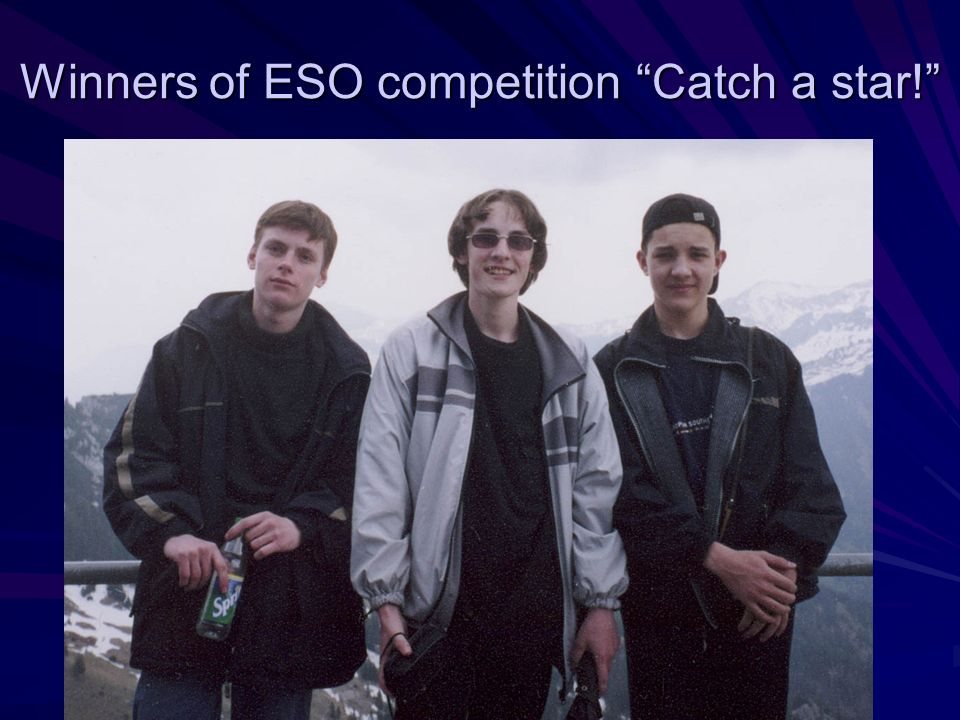 Winners of ESO competition Catch a star!