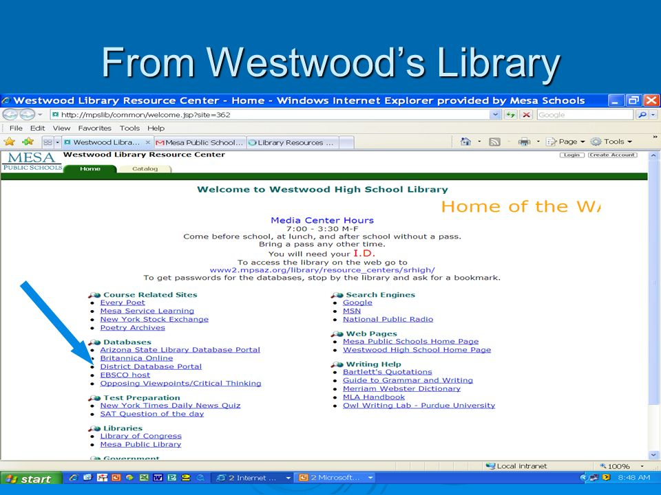 From Westwoods Library