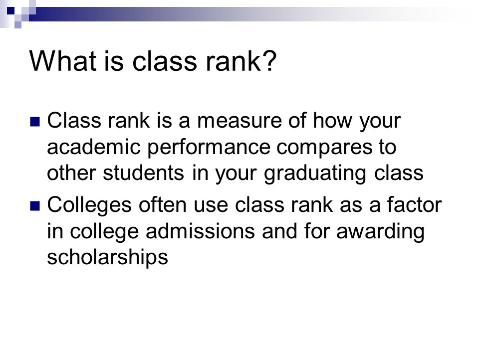 What is class rank.
