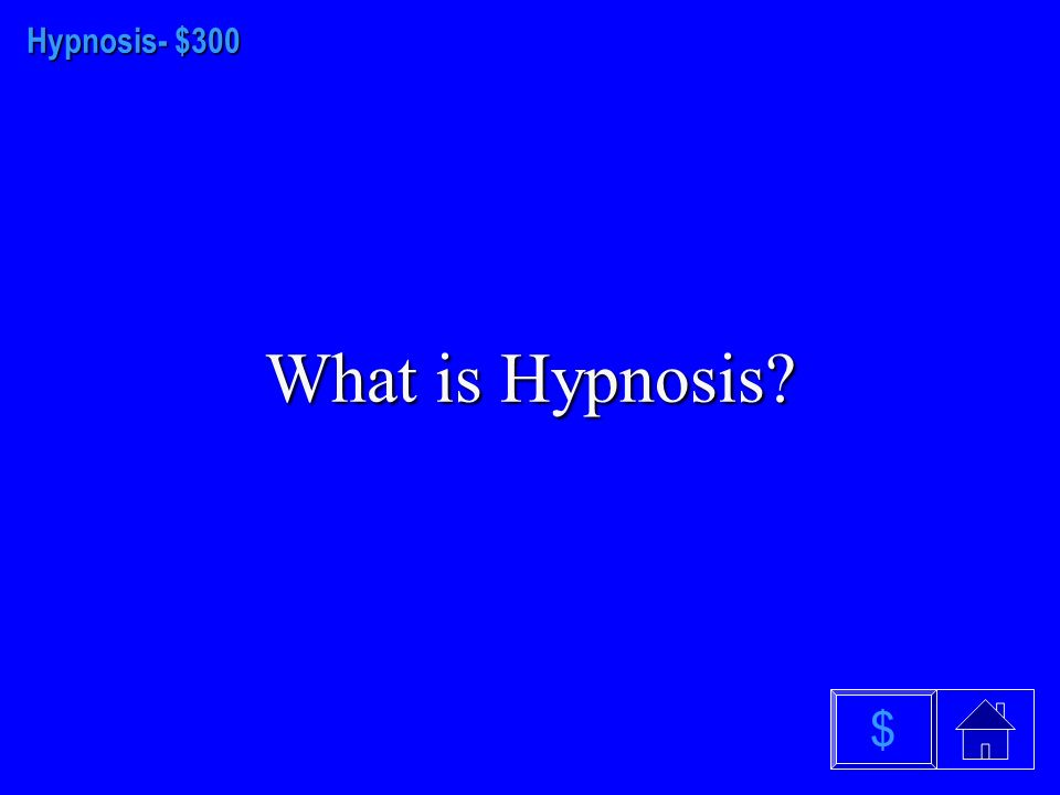 Hypnosis-$200 What is posthypnotic amnesia $