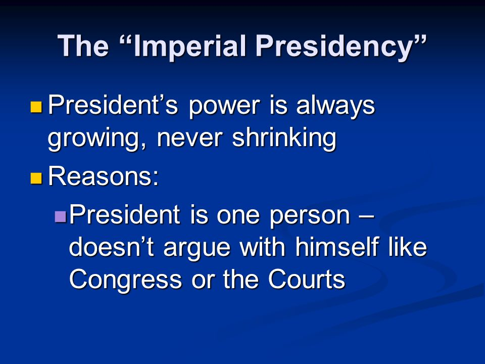 Where Does the Presidents Power Come From.