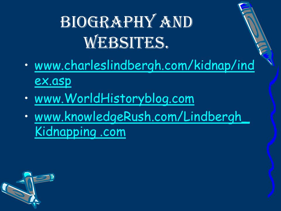 Biography and Websites.