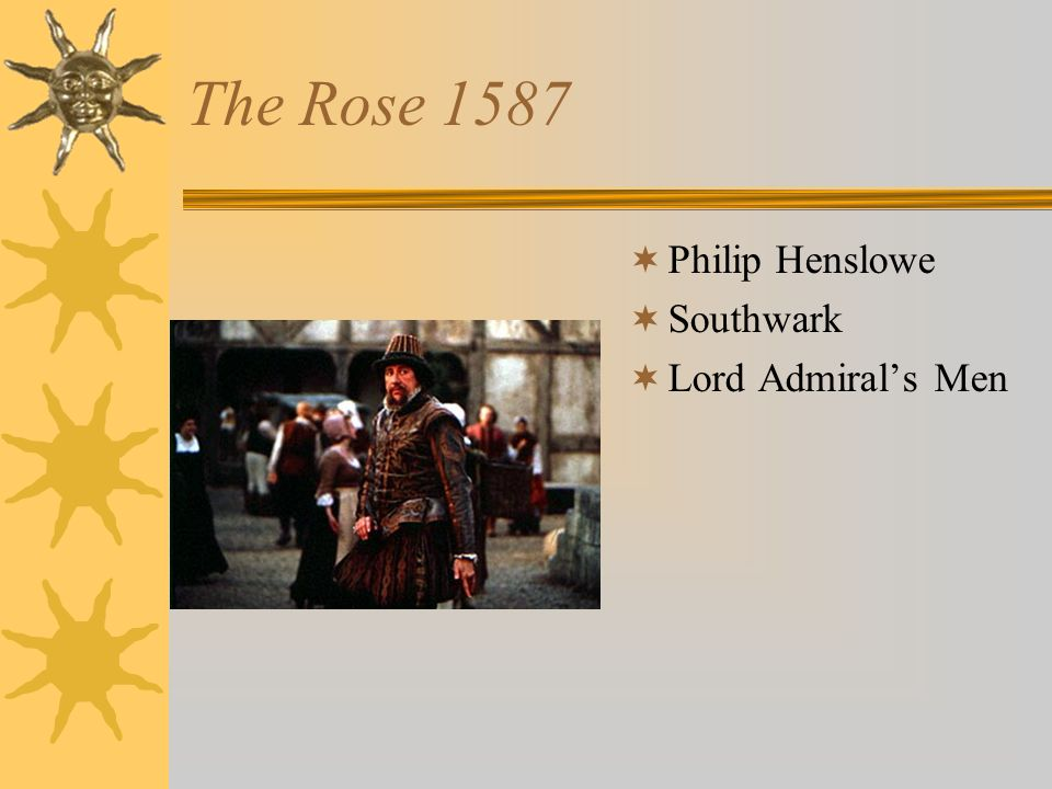 The Rose 1587 Philip Henslowe Southwark Lord Admirals Men