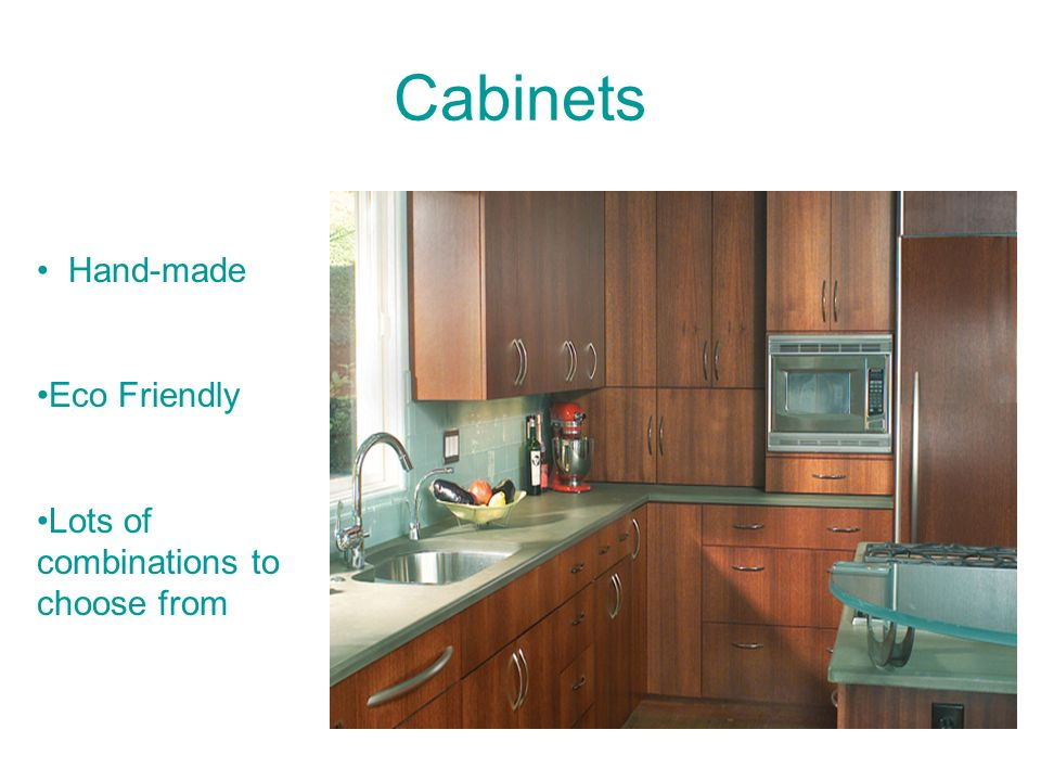 Cabinets Hand-made Eco Friendly Lots of combinations to choose from