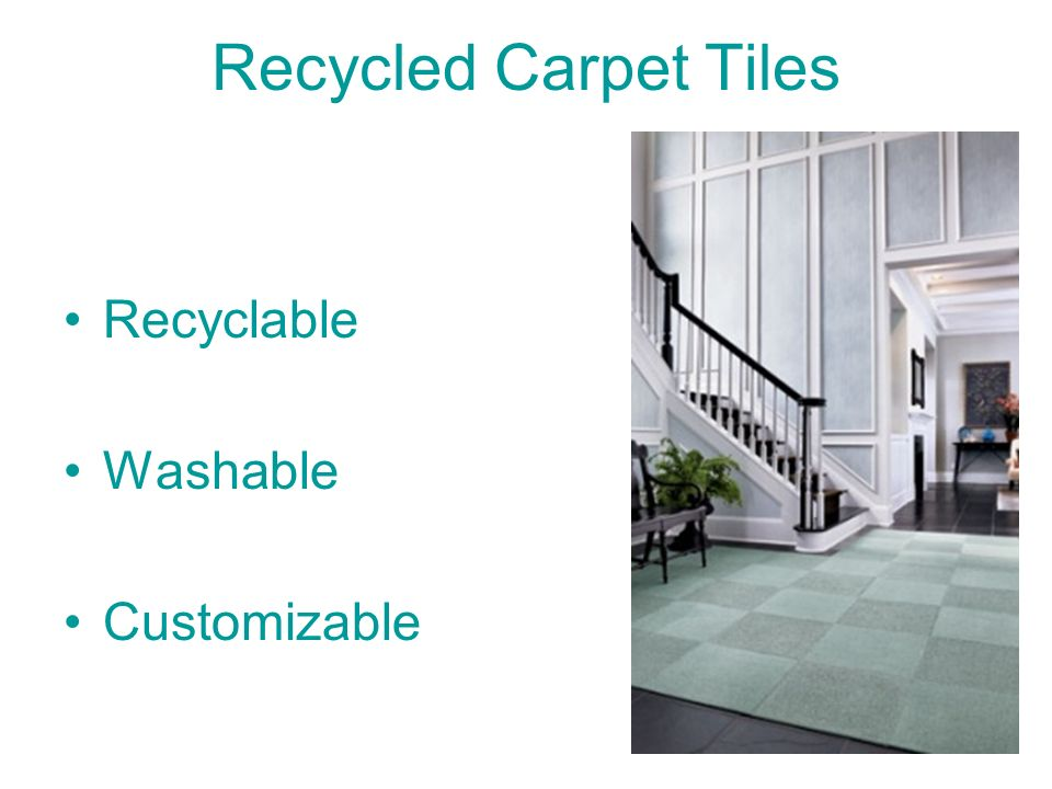 Recycled Carpet Tiles Recyclable Washable Customizable