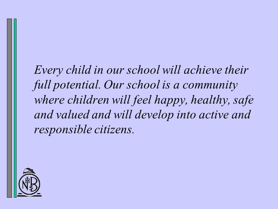 Every child in our school will achieve their full potential.