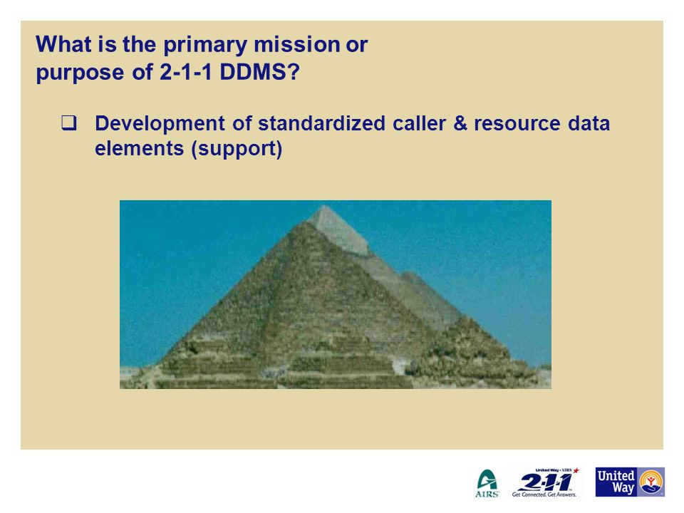 Development of standardized caller & resource data elements (support) 2-1-1 Disaster Data Management System