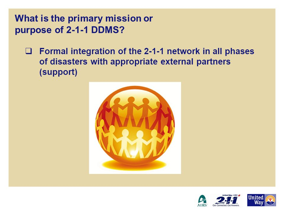 What is the primary mission or purpose of 2-1-1 DDMS.