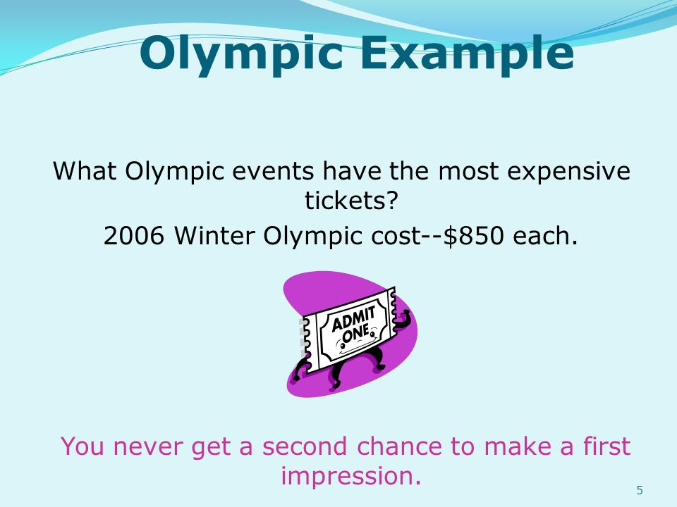 Olympic Example What Olympic events have the most expensive tickets.