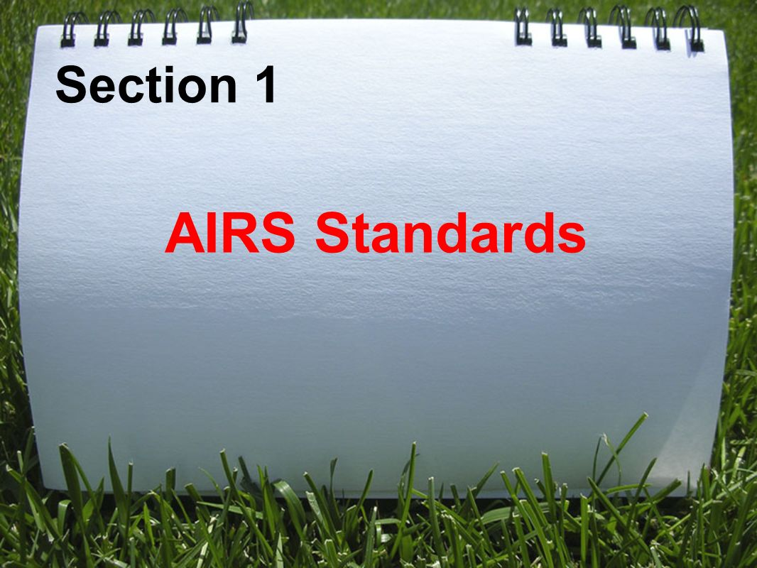 Section 1 AIRS Standards