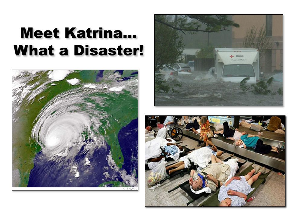 6 Meet Katrina… What a Disaster!