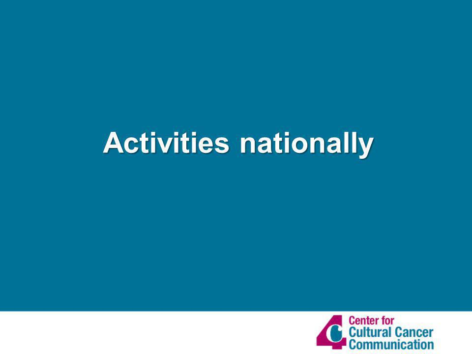 Activities nationally