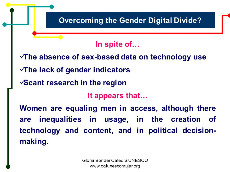 Gloria Bonder Cátedra UNESCO www.catunescomujer.org Overcoming the Gender Digital Divide.