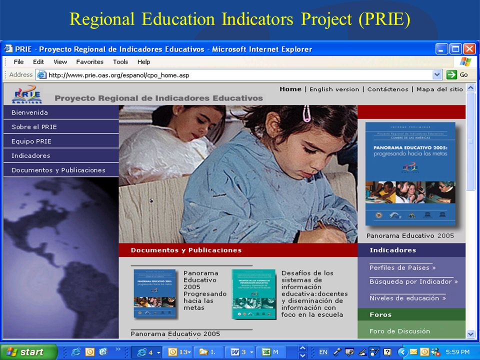 Department of Education and CultureOrganization of American States Regional Education Indicators Project (PRIE)