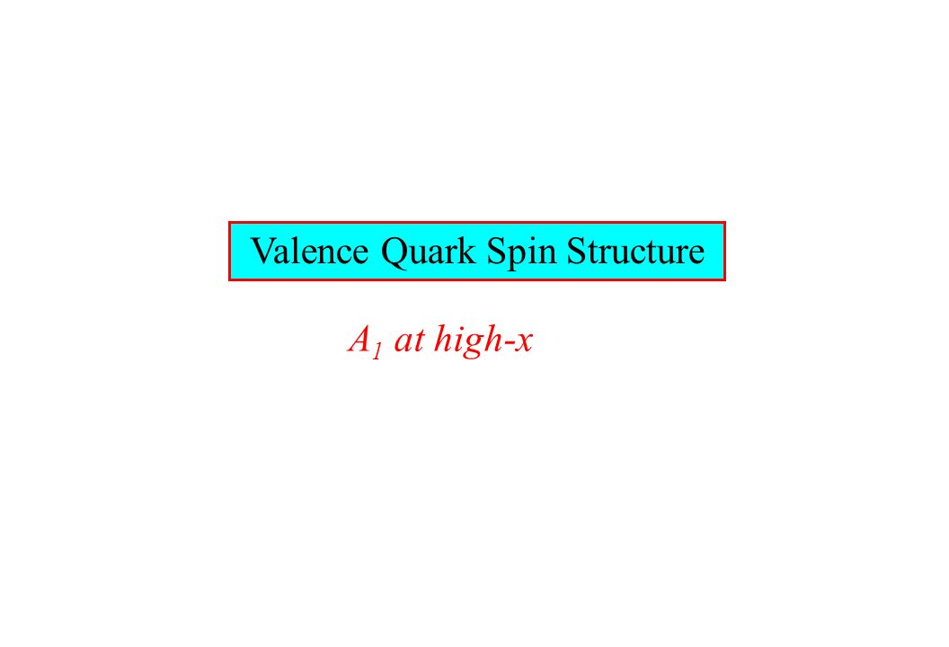 Valence Quark Spin Structure A 1 at high-x