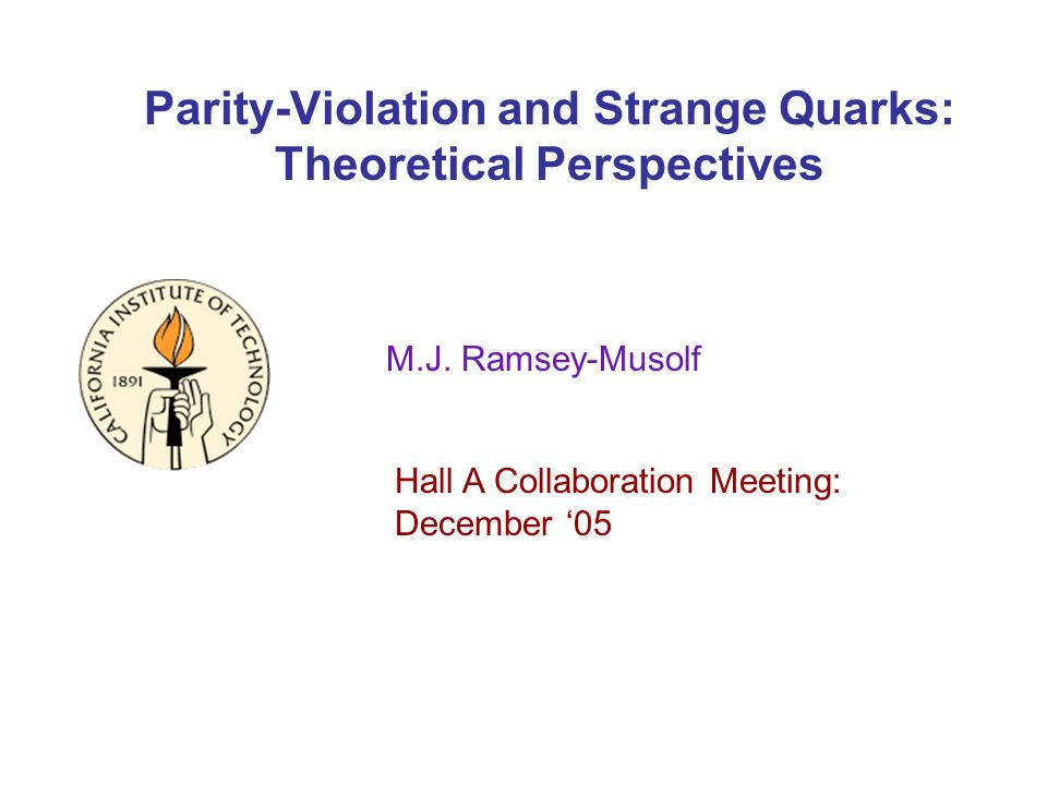 Parity-Violation and Strange Quarks: Theoretical Perspectives M.J.