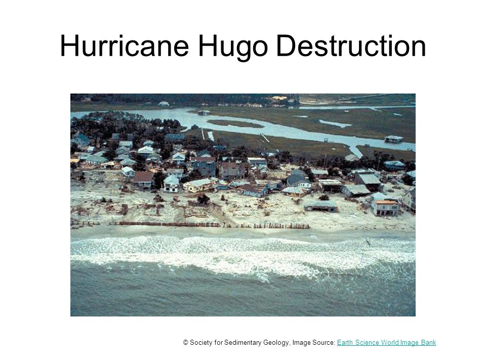 Hurricane Hugo Destruction © Society for Sedimentary Geology, Image Source: Earth Science World Image BankEarth Science World Image Bank