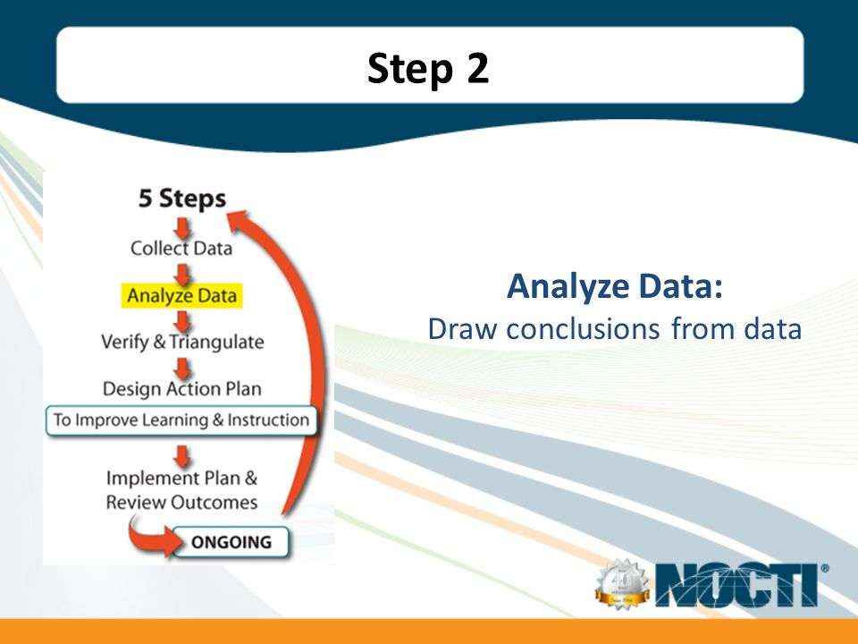 Step 2 Analyze Data: Draw conclusions from data