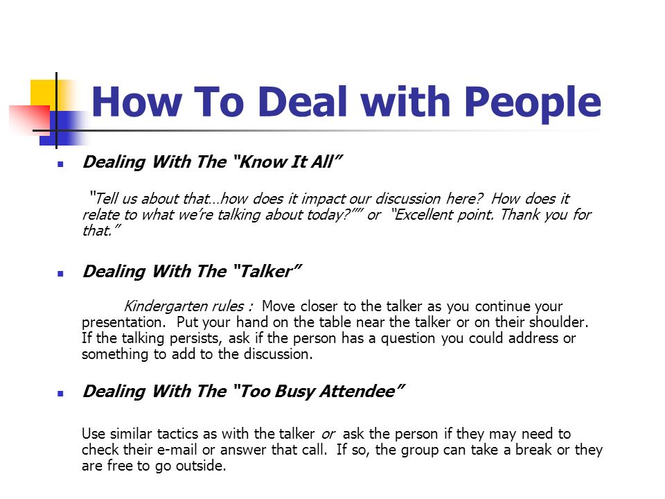 How To Deal with People Dealing With The Know It All Tell us about that…how does it impact our discussion here.