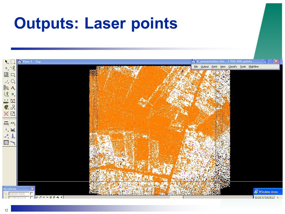 12 Outputs: Laser points